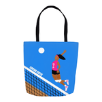 Volleyball Cocoa Cutie Shoulder Tote Bags-Pink