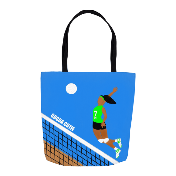 Volleyball Cocoa Cutie Shoulder Tote Bags-Green(GIRL)