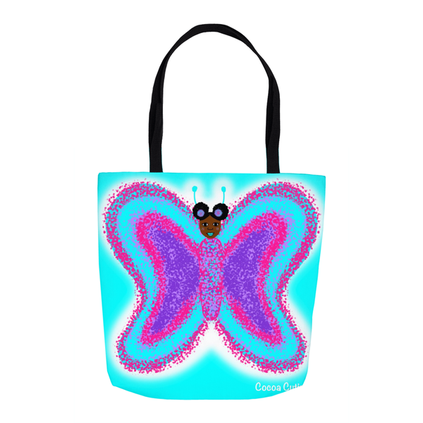 Butterfly Cocoa Cutie Shoulder Tote Bags