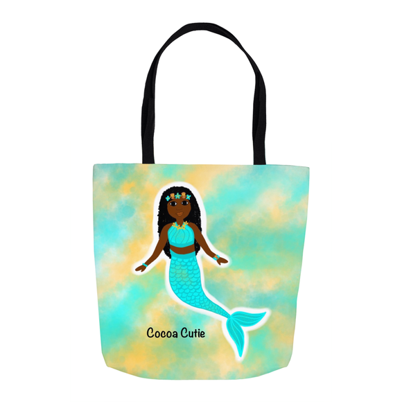 Blue Mermaid(Yanna) Cocoa Cutie Shoulder Tote Bags