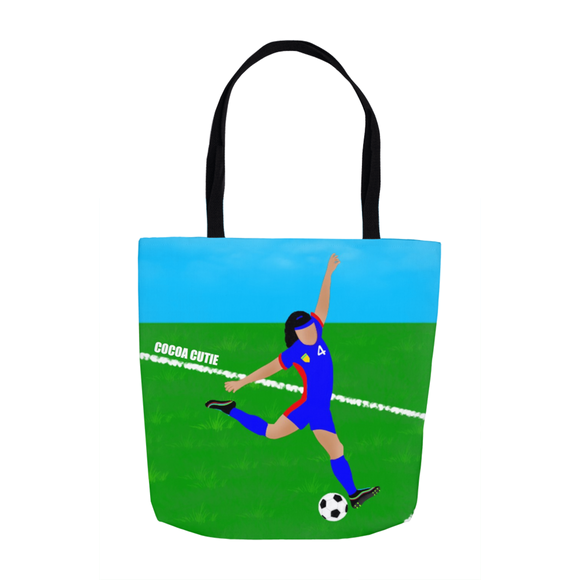 Soccer(Kiara) Cocoa Cutie Tote Bags- Medium Light Skin(GIRL)