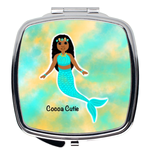 Blue Mermaid(Jordyn) Cocoa Cutie Compact Mirror-Medium Dark