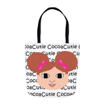 Afro Puffs and Pink Bows Cocoa Cutie(Chantal) Shoulder Tote Bags-Light/Red Hair