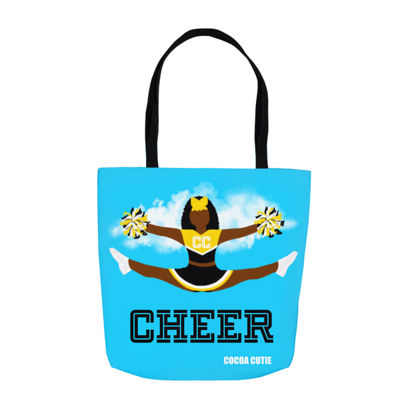 Cheerleader Cocoa Cutie Black Shoulder Tote Bags- Yanna/Dark Skin