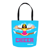 Cheerleader Cocoa Cutie Pink Shoulder Tote Bags- Jordyn/Medium Dark Skin