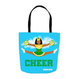 Cheerleader Cocoa Cutie Green Shoulder Tote Bags- Jordyn/Medium Dark Skin