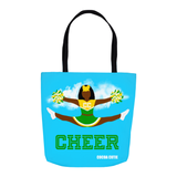 Cheerleader Cocoa Cutie Green Shoulder Tote Bags- Yanna/Dark Skin