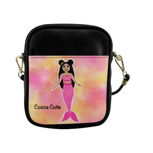 Pink Mermaid Kiara Cocoa Cutie Sling Purse Faux Leather