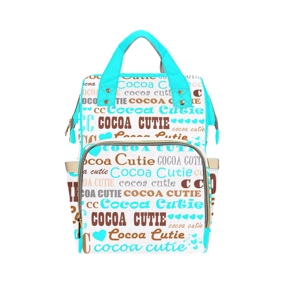 I Heart Cocoa Cutie Teal Diaper Bag