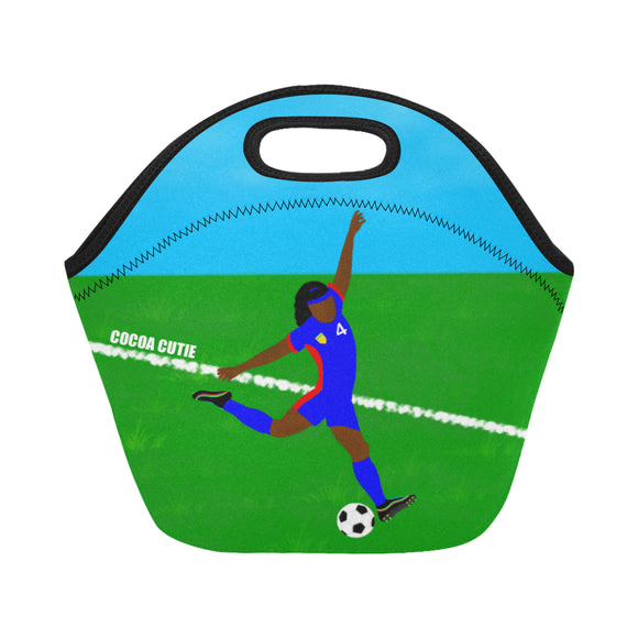 Soccer Cocoa Cutie Lunch Totes Neoprene(2 Skintones)-Girl
