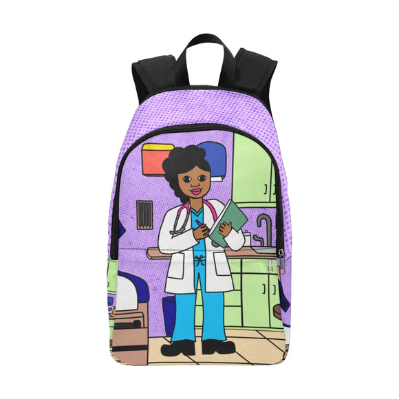 Doctor/Nurse Cocoa Cutie Canvas Backpack(Three Skin Tones)
