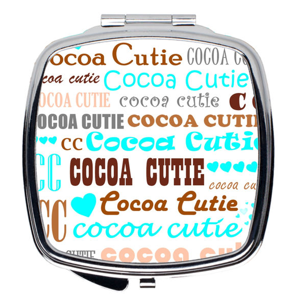 I Heart Cocoa Cutie Compact Mirror(Teal)