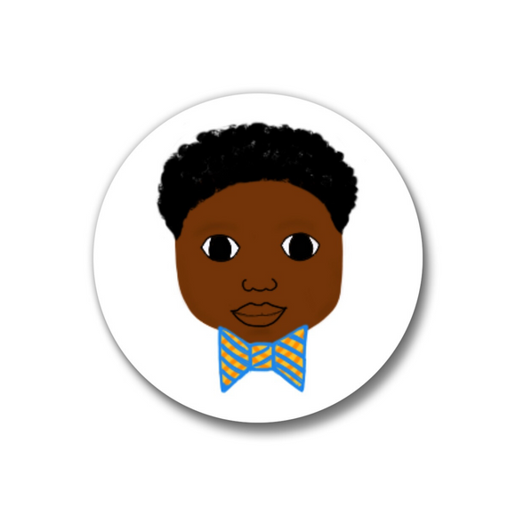 Bow Tie Pin-Back Button-Dark Skin 1.25