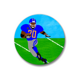 "Football Gold Pin-Back Button-1.25"" Boy"