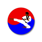 "Taekwondo Pin-Back Button-1.25"" Boy"
