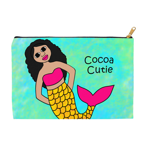 """Be A Mermaid"" Kiara Cocoa Cutie Carry-All Accessory Pouch Cosmetic Bag"