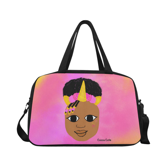 Unicorn Princess(Jordyn) Cocoa Cutie Fitness/Travel Bag-Medium Dark Skin