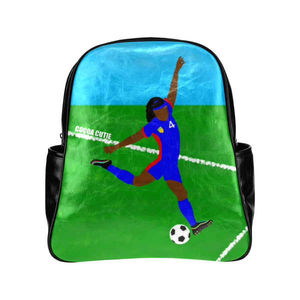 Soccer(Yanna) Cocoa Cutie Junior Faux Leather Backpack-Dark Skin