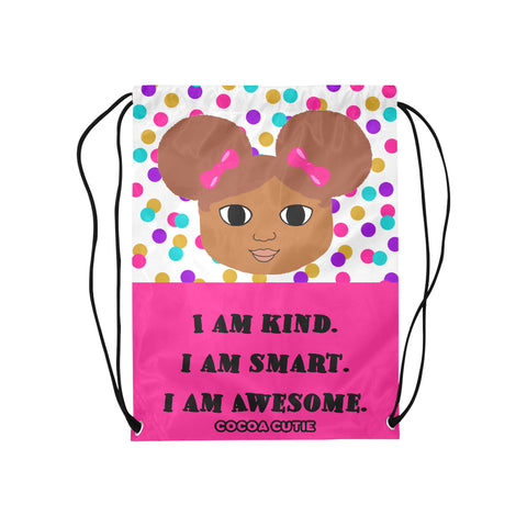 """I AM"" Cocoa Cutie Drawstring Backpacks(4 Skintones)"