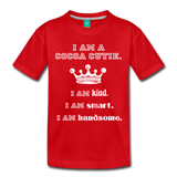 I Am A Cocoa Cutie Toddler Cotton Premium T-Shirt(Prince) - red