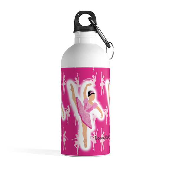Pink Ballerina Mackenzie Stainless Steel Water Bottle