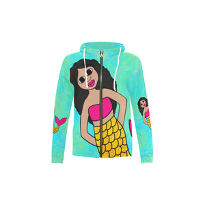 "Special Edition ""Be A Mermaid"" Kiara Zippered Hoodie Jacket"