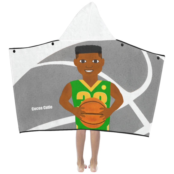 Basketball B-Ball Cocoa Cutie Kid's Hooded Bath/Beach Towel(Two Colors) BOY