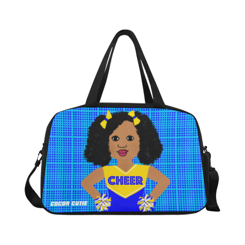 Shari Cocoa Cutie Cheerleader Travel/Fitness Bag w/Shoe Compartment