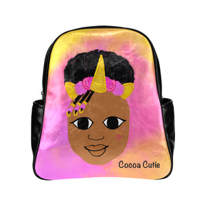 Unicorn Cocoa Cutie Junior Faux Leather Backpacks(Two Designs)