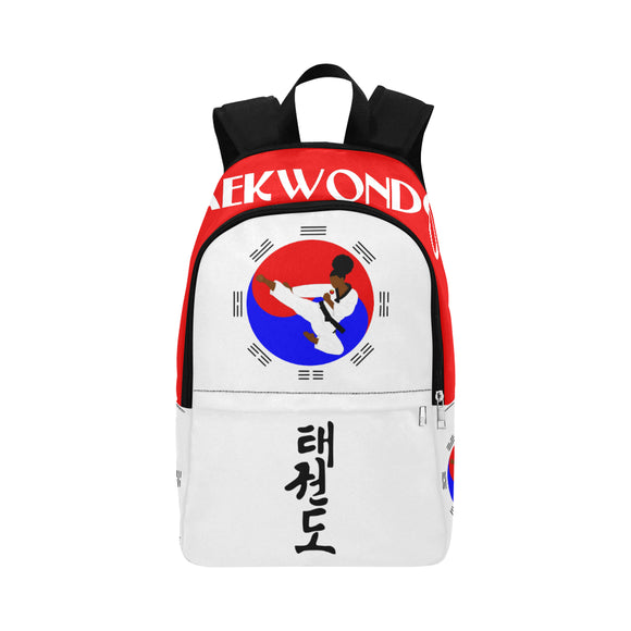 Taekwondo Girl Cocoa Cutie Canvas Backpacks(3 Colors)-Girl