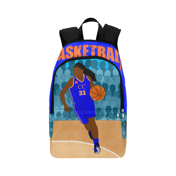 Basketball Yanna Blue Canvas Backpack-GIRL