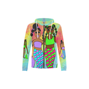 "Special Edition ""Be A Mermaid"" Best Friends Zippered Hoodie Jacket"