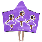 Dancer Cocoa Cutie Kid's Hooded Bath/Beach Towel(Two Skin Tones/Two Designs)