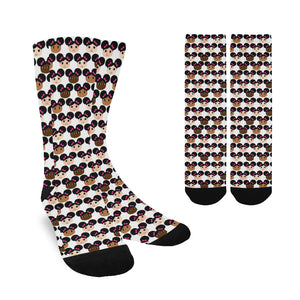 Cocoa Cuties Afro Puffs Women's Socks