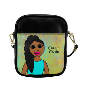 "Special Edition ""Be A Mermaid"" Jordyn Cocoa Cutie Sling Crossbody Purse Faux Leather"