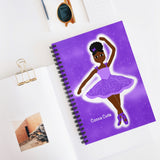 Purple Dancer Yanna Cocoa Cutie Spiral Notebook - Ruled Line