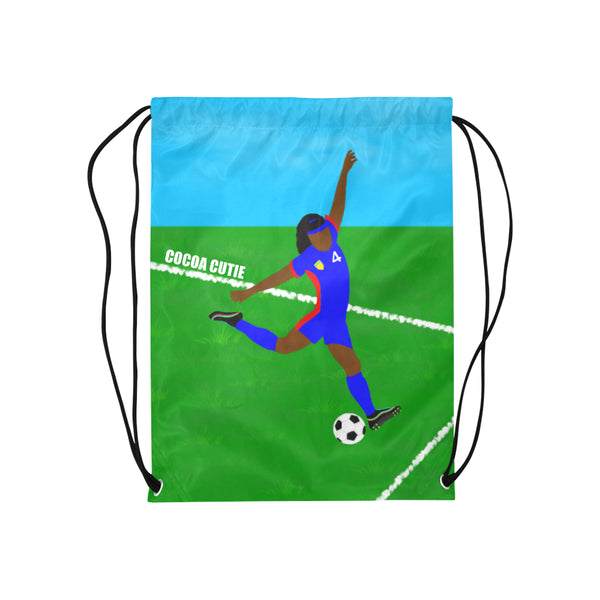 Soccer(Yanna) Cocoa Cutie Drawstring Backpacks-Dark Skin