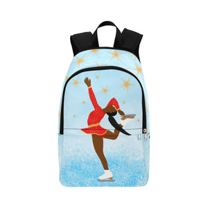 Figure Skater Cocoa Cutie Canvas Backpack Yanna Dark Skin