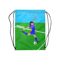 Soccer(Kiara) Cocoa Cutie Drawstring Backpacks-Medium Light Skin