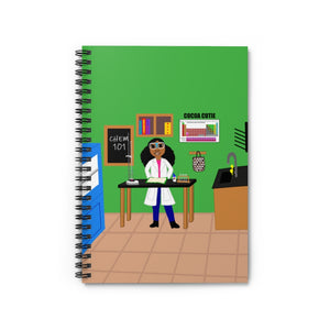 Chemist Jordyn Cocoa Cutie Spiral Notebook - Ruled Line