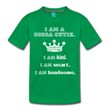 I Am A Cocoa Cutie Toddler Cotton Premium T-Shirt(Prince) - kelly green