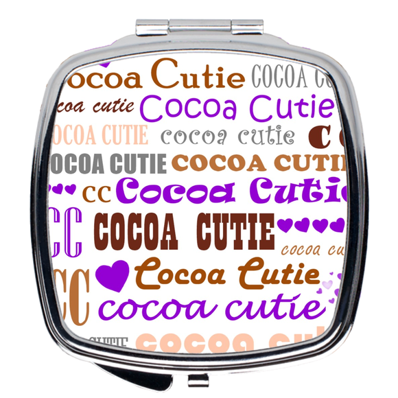 I Heart Cocoa Cutie Compact Mirror(Purple)