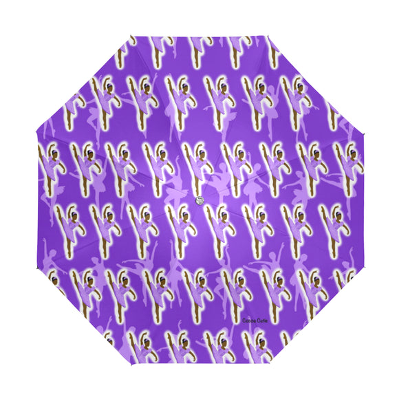 Purple Ballerina Yanna Anti-UV Foldable Umbrella