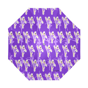 Purple Ballerina Mackenzie Anti-UV Foldable Umbrella