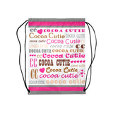 I Heart Cocoa Cutie Drawstring Backpacks(3 Colors)