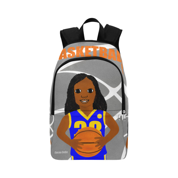 Basketball Cocoa Cutie Canvas Backpacks(3 Colors)-Girl