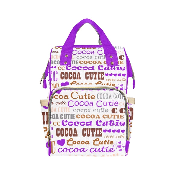 I Heart Cocoa Cutie Purple Diaper Bag