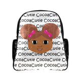 Afro Puffs and Pink Bows Cocoa Cutie Junior Faux Leather Backpacks(Five Designs)