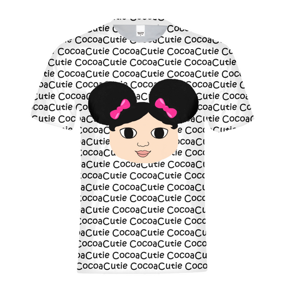 AFRO PUFFS AND PINK BOWS MACKENZIE COCOA CUTIE Kids Performance Tee