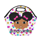 """I AM"" Cocoa Cutie Lunch Totes Neoprene(4 Skintones)-Girl"